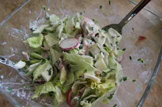 Bunter Sommersalat ist ein leckeres Essen für heiße Sommertage