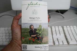 Neue Weinkarte für das Weingut Fuchs